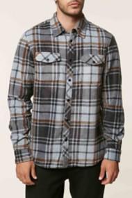 O'Neill Mens Glacier Long Sleeve Plaid Shirt