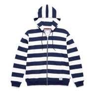 Men's Herschel Supply Co Boarder Stripe Full Zip Hoodie