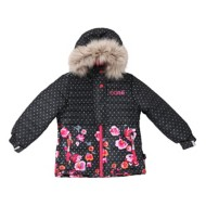Toddler Girls' Nano Flower and Dot Print Jacket