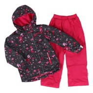 Grade School Girls' Nano Black Floral Jacket
