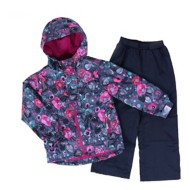 Toddler Girls' Nano Dust Blue Floral Jacket