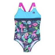 Grade Schol Girls' Nano Colorblock Floral One Piece Swimsuit