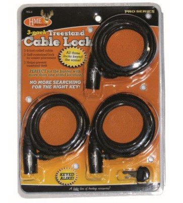 HME Treestand Cable Lock 3 Pack