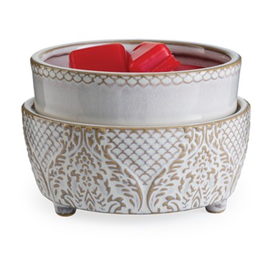 Candle Warmers Etc. Vintage White 2-in-1 Classic Fragrance Warmer