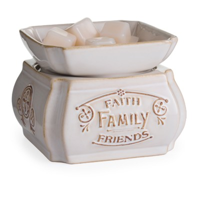 Candle Warmers Etc. Faith Family Friends 2-in-1 Classic Fragrance Warmer
