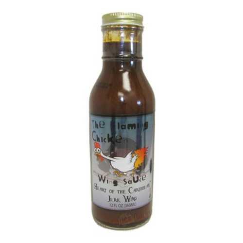 Hot Sauce Depot Flaming Chicken Heart of the Caribbean Jerk 12oz Wing Sauce