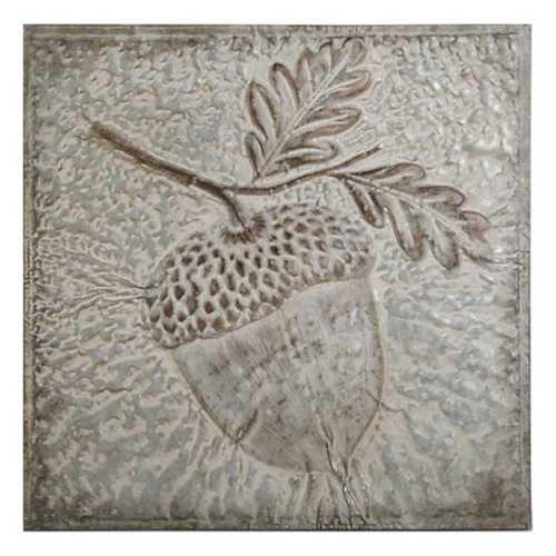K & K Interiors Pressed Tin Acorn Wall Art
