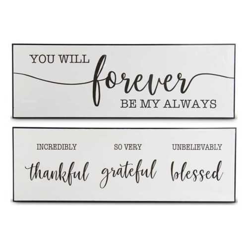 "K & K Interiors Assorted Glossy 47"" Inspirational Wall Sign"