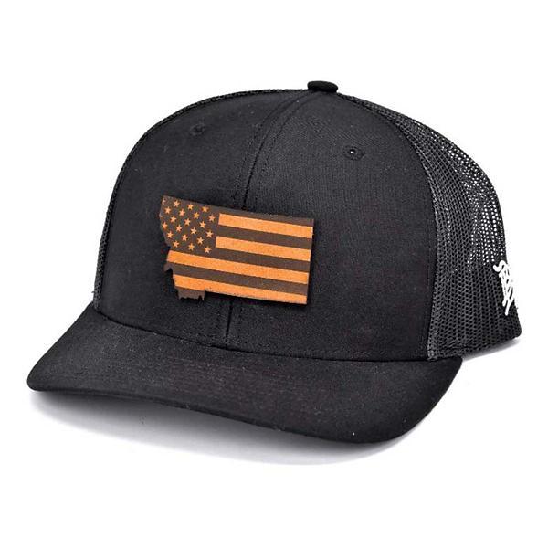 Men's Branded Bill Montana Patriot Curved Trucker Hat