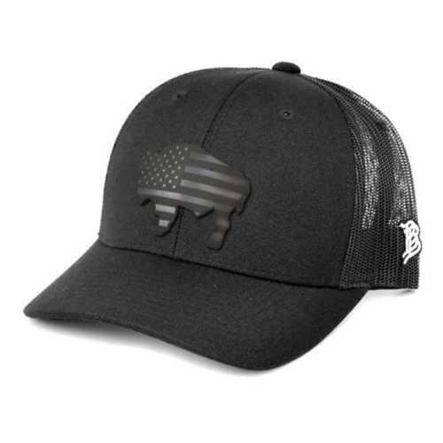 Men's Branded Bill Wyoming Patriot Curved Trucker Hat