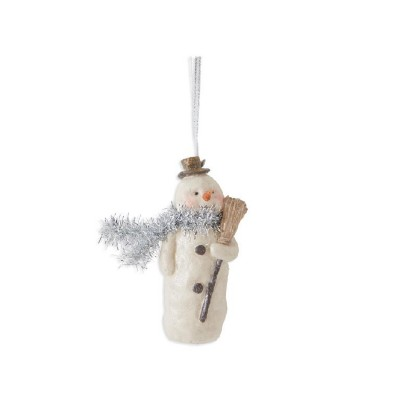 K & K Interiors Resin Snowman Ornament