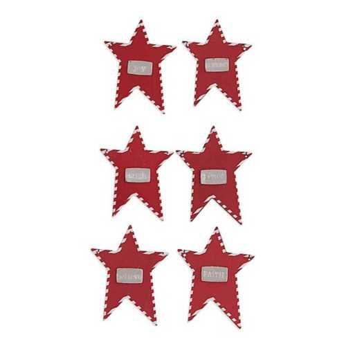 K&K Interiors Assorted Tin Star Message Ornament