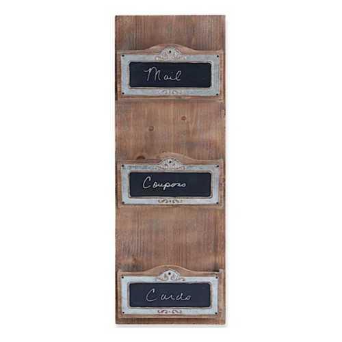 "K & K Interiors 31.5"" Wooden Vertical Wall Organization Unit"