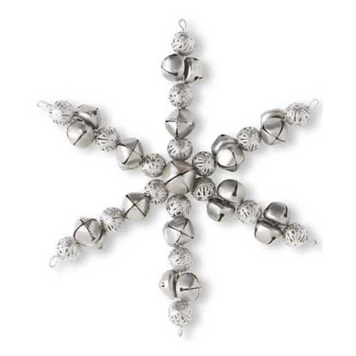 "K&K Interiors  8"" Bell Snowflake Iron Ornament"