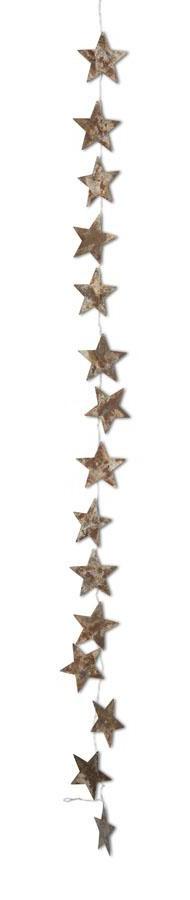 K & K Interiors Rustic Tin Star Garland