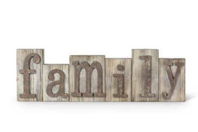 K & K Interiors Family Barnwood Bricks w/ Raised Letters