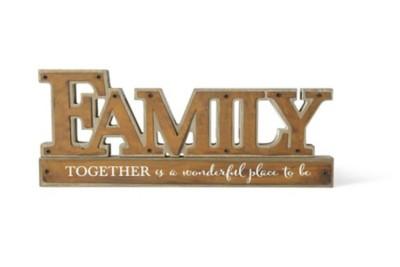 K & K Interiors Family Tabletop Sign