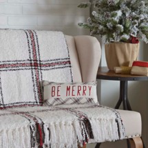 "VHC Brands Amory ""Be Merry"" Pillow"