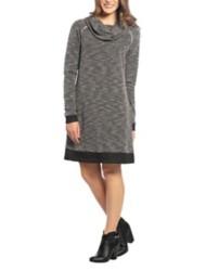 Women's Neesha Heathered Waffle Cowl Neck Dress