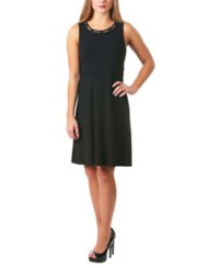 Women's Neesha Looped Trim Fit and Flare Dress