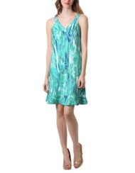 Women's Neesha V-Neck Ruffle Hem Dress