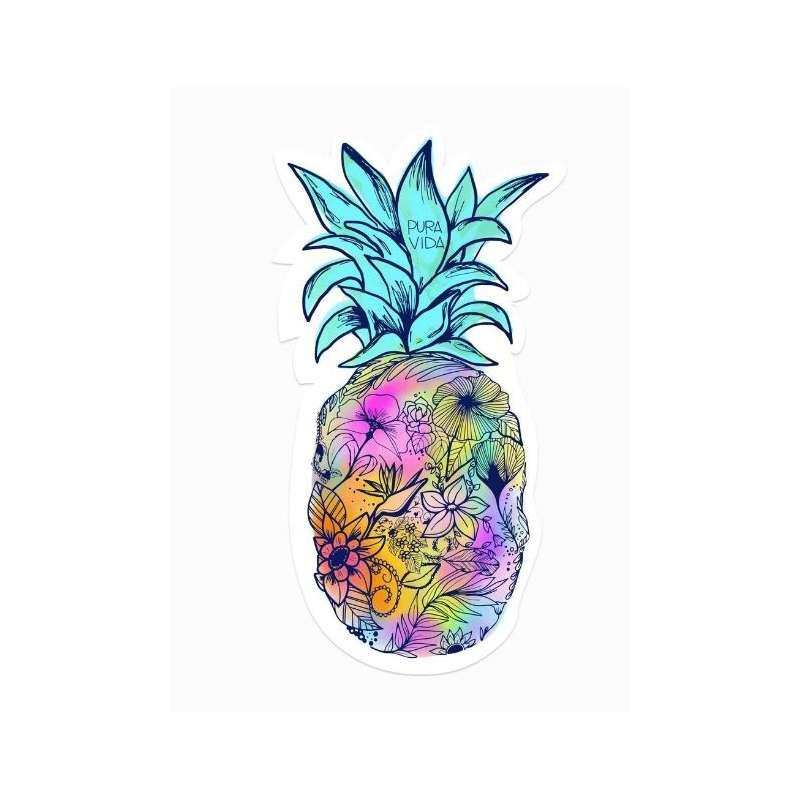 Pura Vida Bracelets Floral Pineapple Sticker