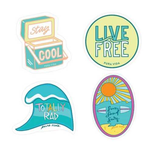 Women's Pura Vida Surfer Girl Sticker Pack