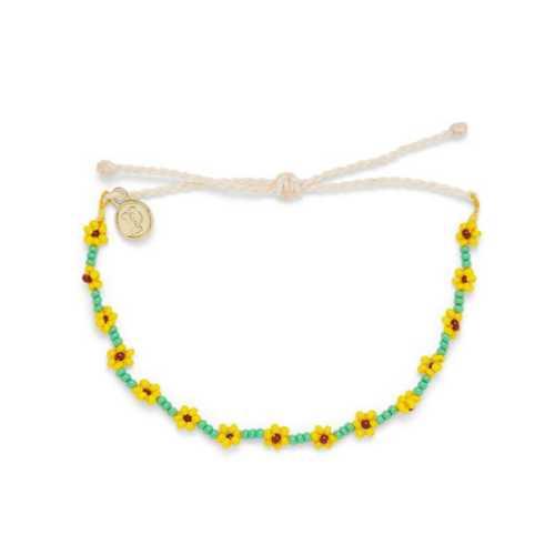 Women's Pura Vida Flower Seed Bead Bracelet