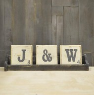 Pine Designs 3 Letter Scrabble Sign Tray