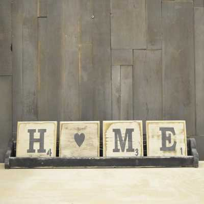 Pine Designs 4 Letter Scrabble Sign Tray