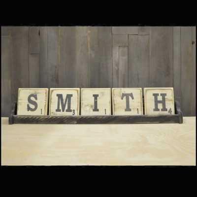 Pine Designs 5 Letter Scrabble Sign Tray