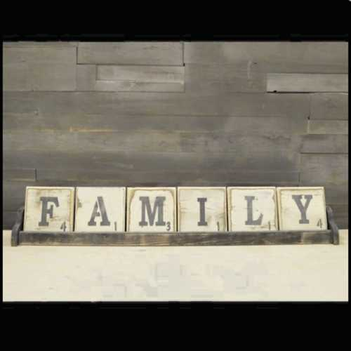 Pine Designs 6 Letter Scrabble Sign Tray