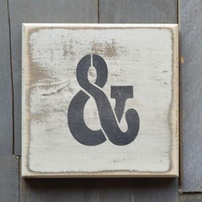 Pine Designs Scrabble Ampersand Sign
