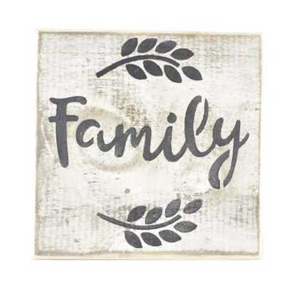 Pine Designs Family Tile Sign