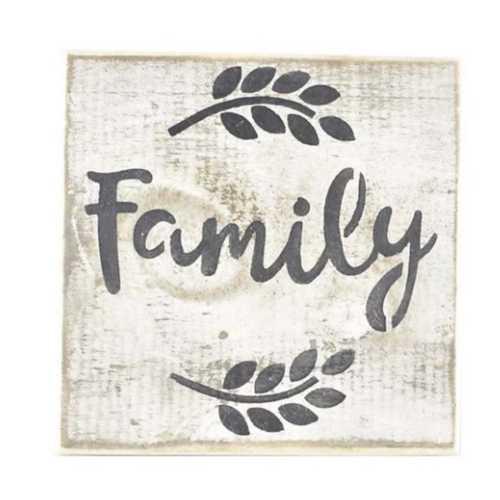 Pine Designs Family Tile Sign