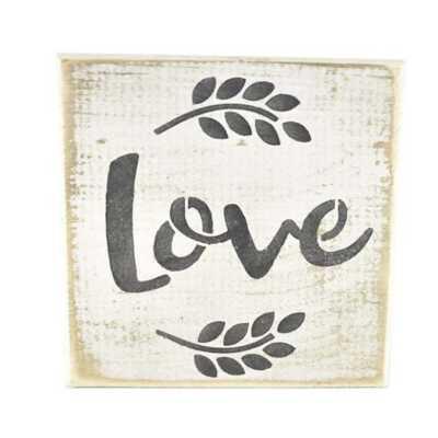 Pine Designs Love Tile Sign
