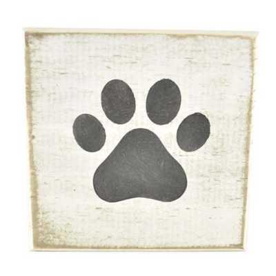 Pine Designs Paw Tile Sign