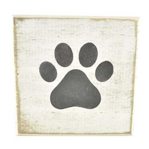 Pine Designs Paw Tile Sign