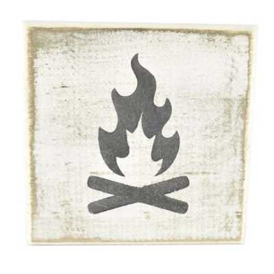 Pine Designs Campfire Tile Sign