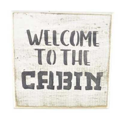 Pine Designs Welcome To The Cabin Tile Sign