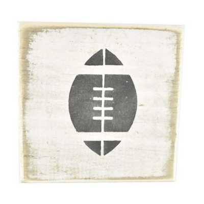 Pine Designs Football Tile Sign