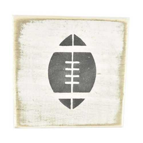 Pine Designs Football Tile Sign