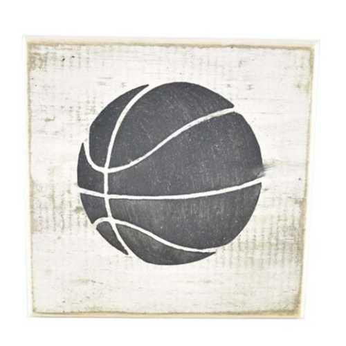 Pine Designs Basketball Tile Sign