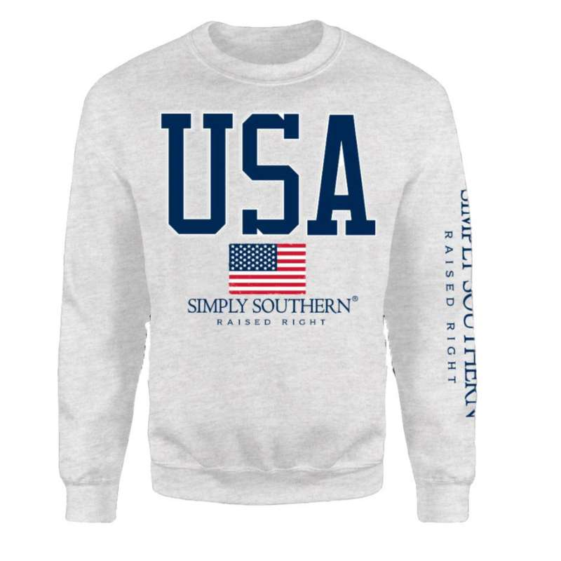 Women's Simply Southern USA Crew Sweatshirt
