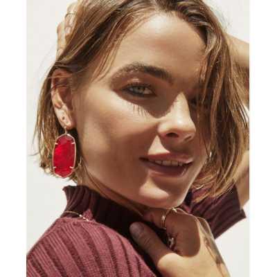 Women's Kendra Scott Danielle Black Glass Earrings