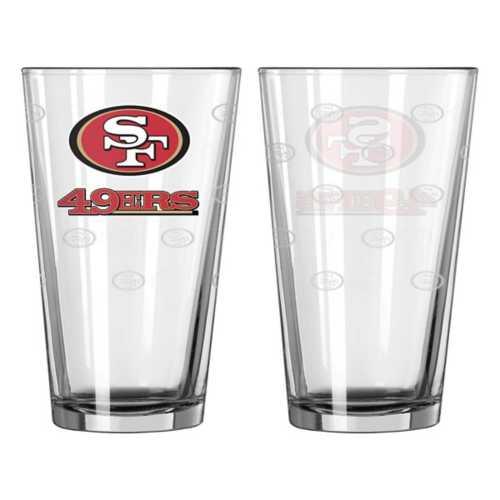 Logo Brands San Francisco 49ers Satin Etched 16oz. Glass
