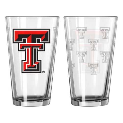 Logo Brands Texas Tech Red Raiders Satin Etch 16oz. Glass