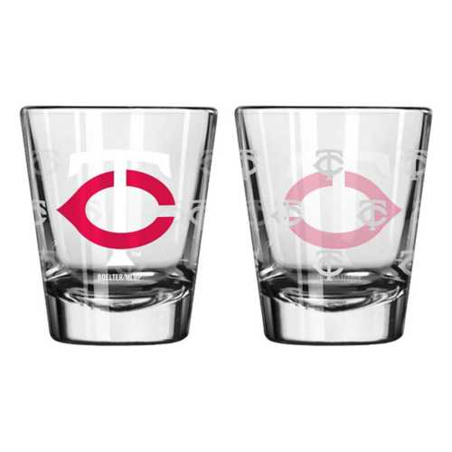 Logo Brands Minnesota Twins 2oz. Etched Shot Glass