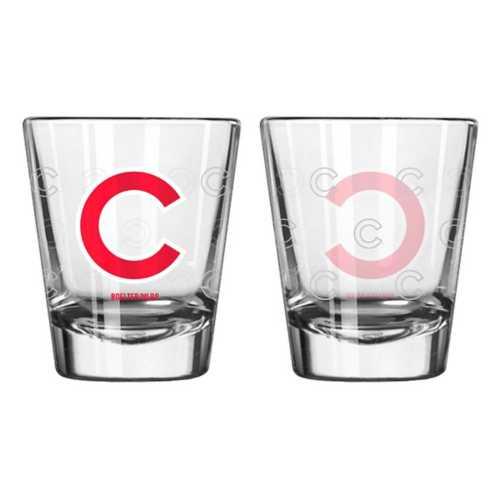 Logo Brands Chicago Cubs 2oz. Etched Shot Glass