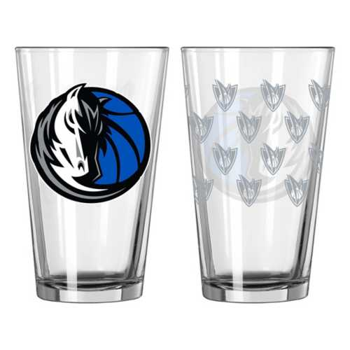 Logo Brands Dallas Mavericks Satin Etch 16oz. Glass